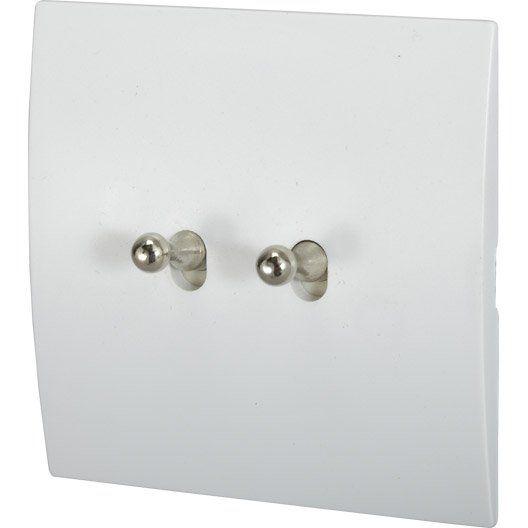 double_interrupteur_va_et_vient_karo__modul_design__blanc
