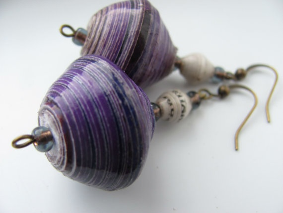 1000 Images About Paper Bead Earrings On Pinterest