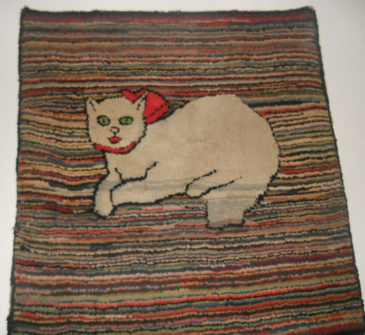 368 Best Old Hooked Rugs Images On Pinterest