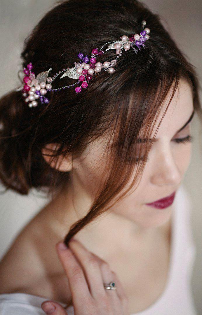 Wedding Diadem   Свадебный венок для невесты — Купить, заказать, венок, тиара, диадема, свадьба, свадебный, невеста, украшение, стекло, бисер, жемчуг