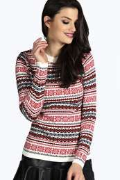 Lexie Norway Snowflake Jumper Get wonderful discounts up to 60% Off at Boohoo with Coupon and Promo Codes.