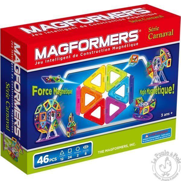 Magformers Carnaval 46 pièces - jeu de construction magnétique - LaPouleAPois.fr
