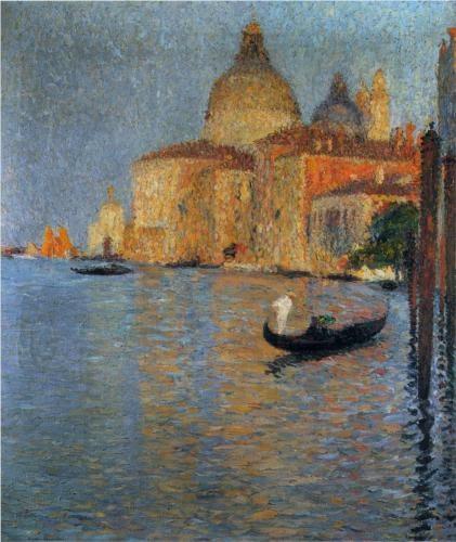 View of Salute in Venice - Henri Martin