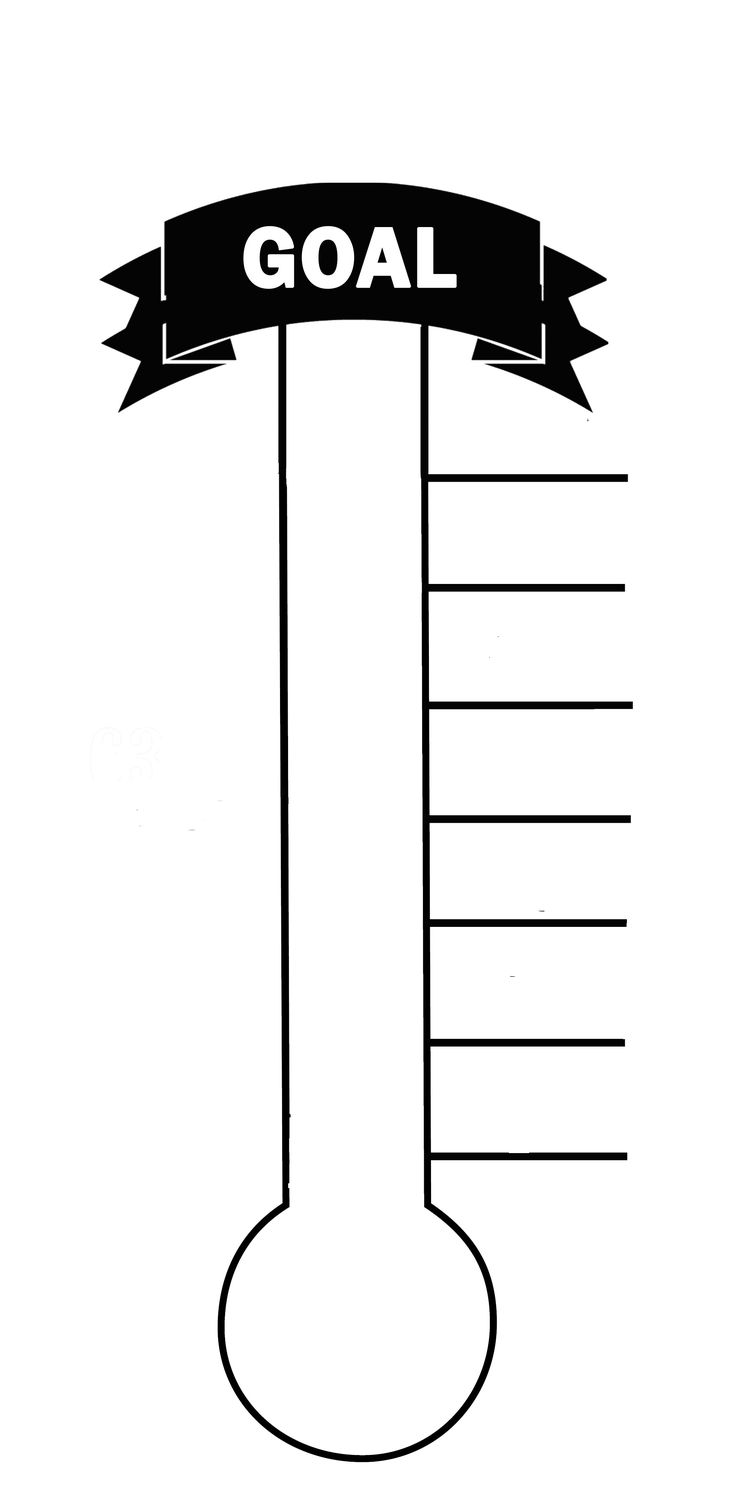 Blank thermometer printable for fund raising creating a for Charity thermometer template
