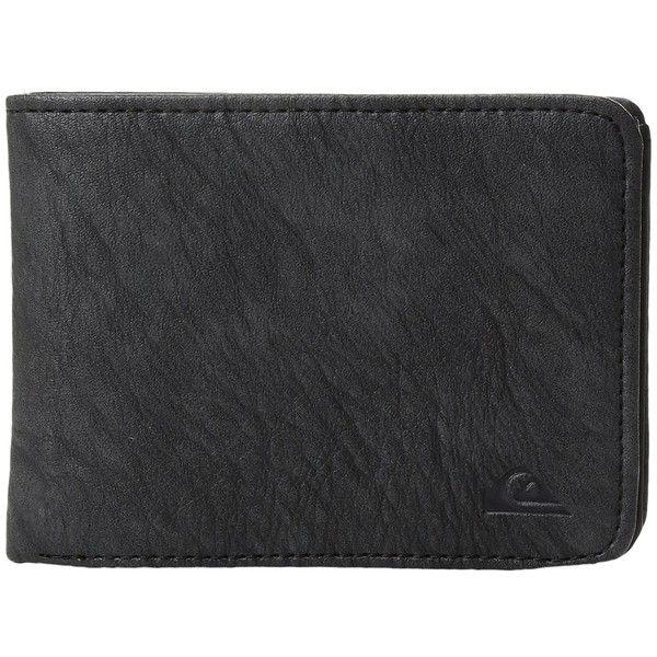 Quiksilver Slim Vintage II Wallet (Black) (335 ARS) ❤ liked on Polyvore featuring men's fashion, men's bags, men's wallets, mens credit card holder wallet, mens slim wallets and vintage mens wallet