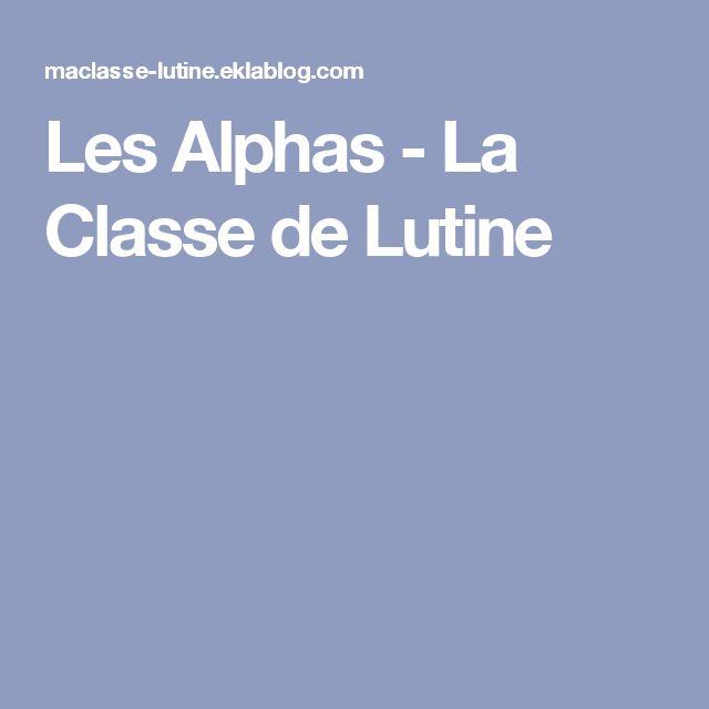 Les Alphas - La Classe de Lutine
