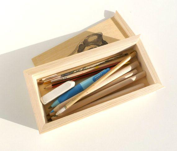 Caja de lápices de madera portalápices personalizado por BogaHome