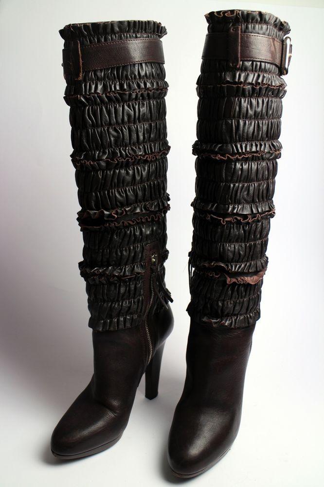 MIU MIU BY PRADA STIEFEL GR 36 / 37 LUXUS Wildleder Winter Boots 799€ HAUL NEUW