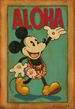 hawaiian mickey - aloha - trevor carlton