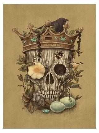 107 best images about crowned skulls on pinterest for Skeleton king tattoo