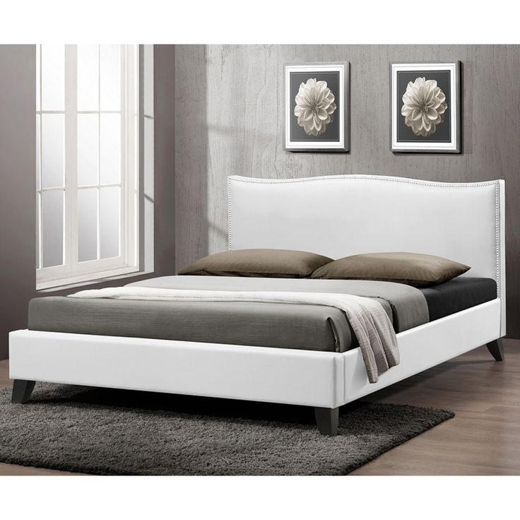 battersby modern bed with upholstered headboard queen