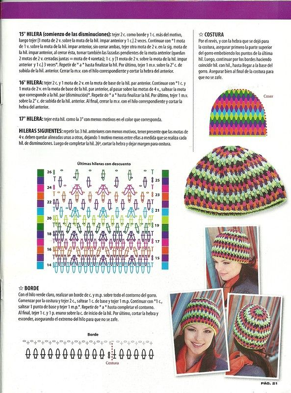 10 best Patrones images on Pinterest | Beanies, Knitting stitches ...