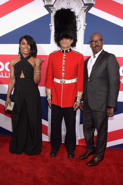 Angela Bassett & husband Courtney Vance at the Premiere of Focus Features' 'London Has Fallen'
