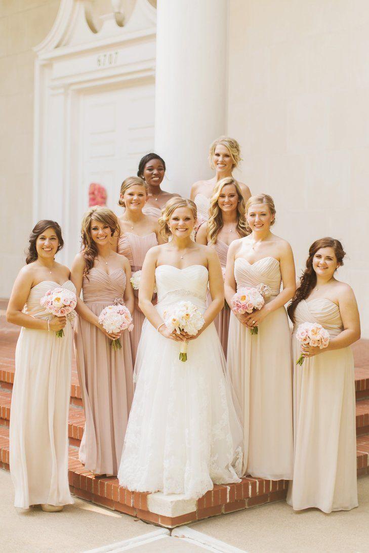 Pale bridesmaid dresses wedding gallery pale champagne bridesmaids dresses elizabeth anne designs the ombrellifo Images
