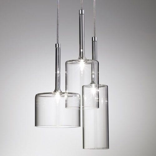 the spillray 3 light led cluster pendant light features a collection of glass lights in various