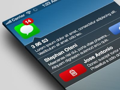 SMS Notification for iOS7