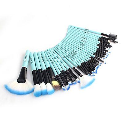 32tlg Professionelle SchminkPinsel Set Make-up Brushes kosmetik  Pu Bk Bu Pinsel