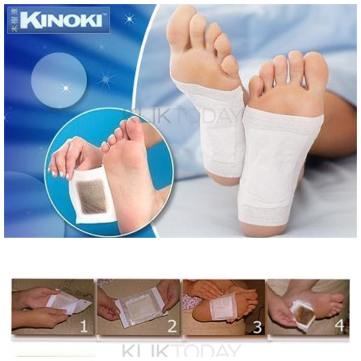 Dapatkan Kinoki Foot Pad untuk menghisap segala jenis racun yang ada di tubuh kamu melalui kaki. #promo cm di KlikToday