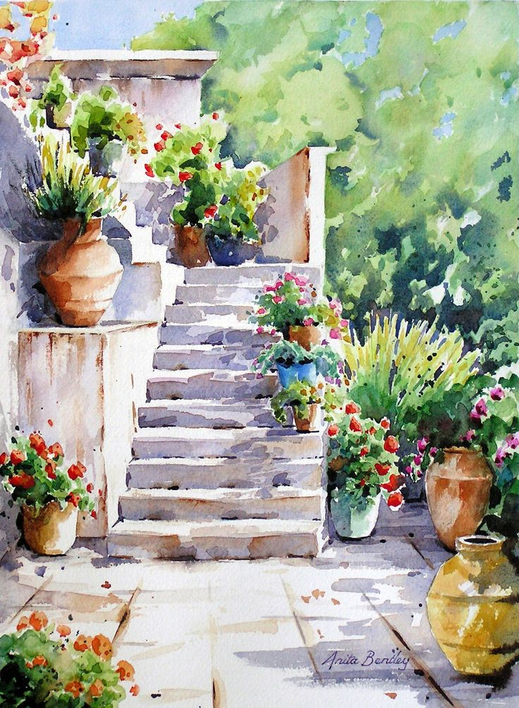 Watercolours by Anita Bentley: New works ........