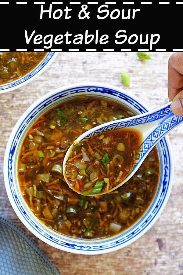 Hot Sour Soup Vegan Indian Chinese Style