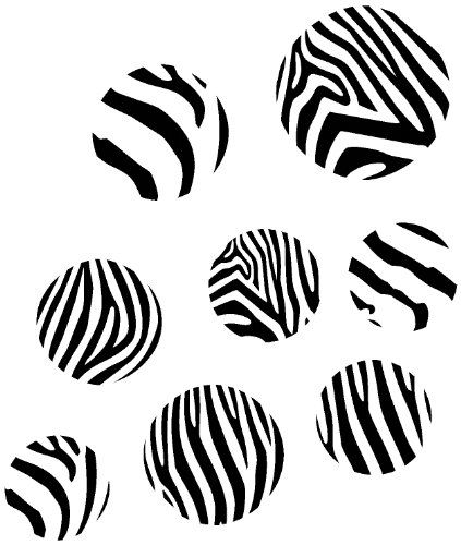 Wall Dcor Plus More Black Zebra Print Large Dots Wall Sticker Vinyl Decal 4  7 Inch Black *** See This Great Product. Part 65