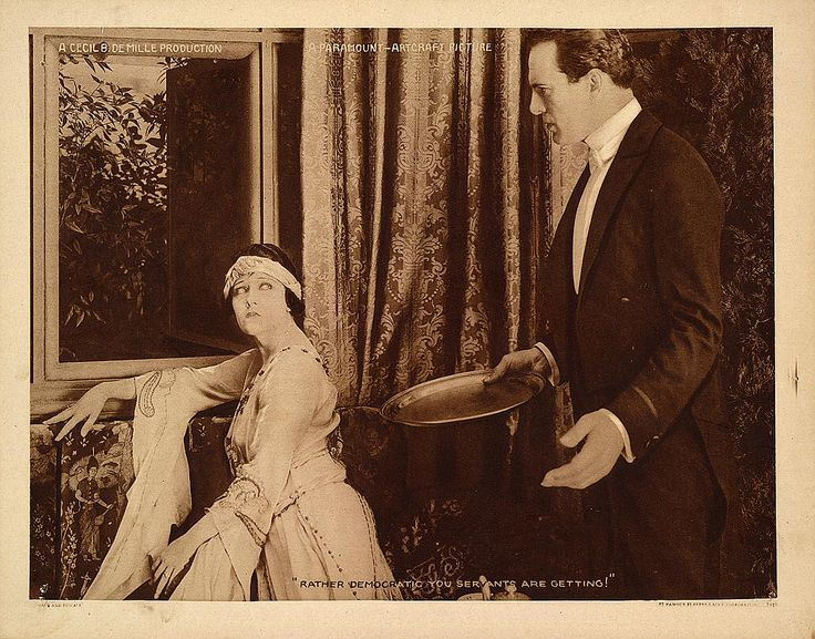 Gloria Swanson and Thomas Meighan in Male and Female 1919