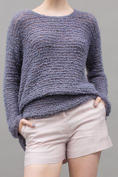 Lässig: Kostenlose Strickanleitung für einen Oversize-Pullover mit Fallmaschen - Initiative Handarbeit