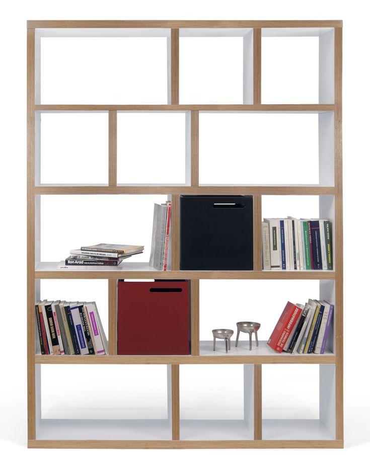 Rotterdam Bookcase - L 150 x H 198 cm L 150 cm - White / Plywood edges by POP UP…