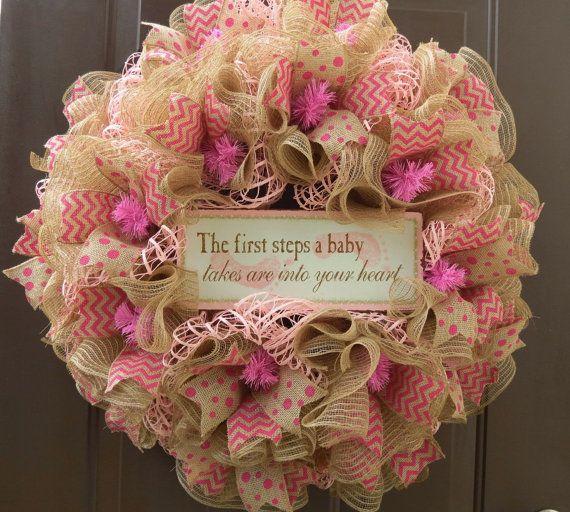 Baby Shower Deco Mesh Wreath Baby S Room Deco Mesh