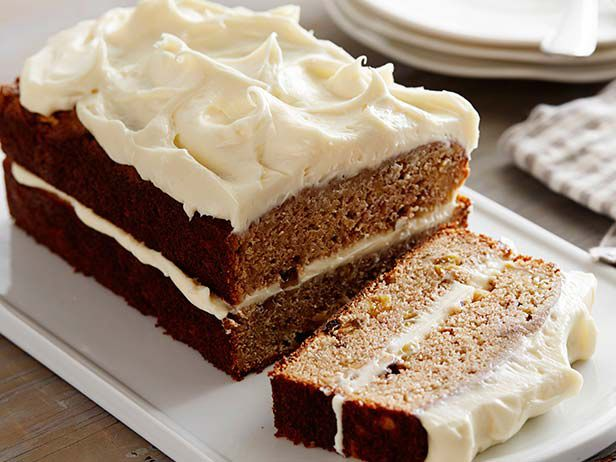 Apple Spice Cake with Cream Cheese Icing Recipe : Anne Burrell : Food ...