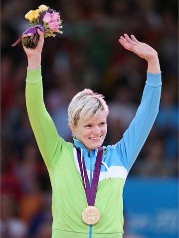 Urska Zolnir of Slovenia wins gold in the women's -63kg Judo competition