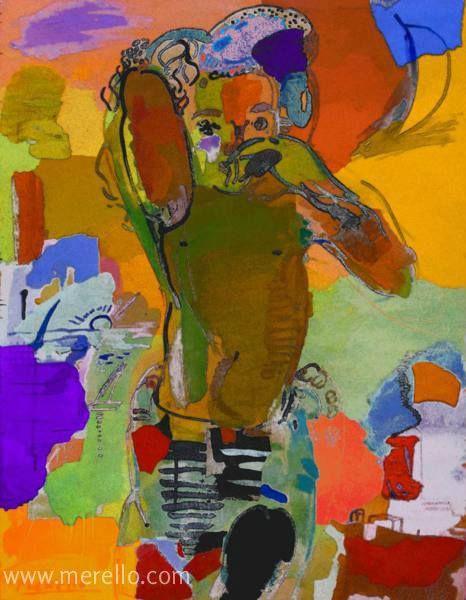 """De kleurdiepte. Het beenmerg van de kleur. Het kloppende van de kleur...  Jose Manuel Merello.- """"El pareo.""""  HEDENDAAGSE KUNST. Moderne schilderkunst. Hedendaagse Spaanse schilders. Artiesten XXI-21 de eeuw. Amsterdam, Madrid, Parijs, kunst, luxe en decoratie. ACTUELE KUNST. Moderne Kunst. Investering. http://www.merello.com"""