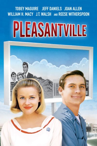 Impressed by high school student David's (Tobey Maguire) devotion to a 1950s family TV show, a mysterious television repairman (Don Knotts) provides him with a means to escape into the black-and-white program with his sister, Jennifer (Reese Witherspoon). While David initially takes to the simplistic, corny world of the show, Jennifer sets about jolting the characters with doses of reality that unexpectedly bring a little color into their drab existence.