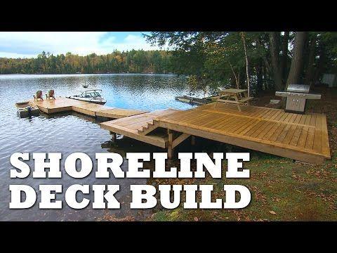 Building a Shoreline Deck - YouTube