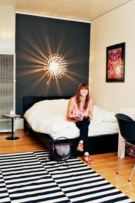 {Stockholm rug from IKEA} Nina Bakos Portland Studio house tour on Apartment Therapy | rug $200-350