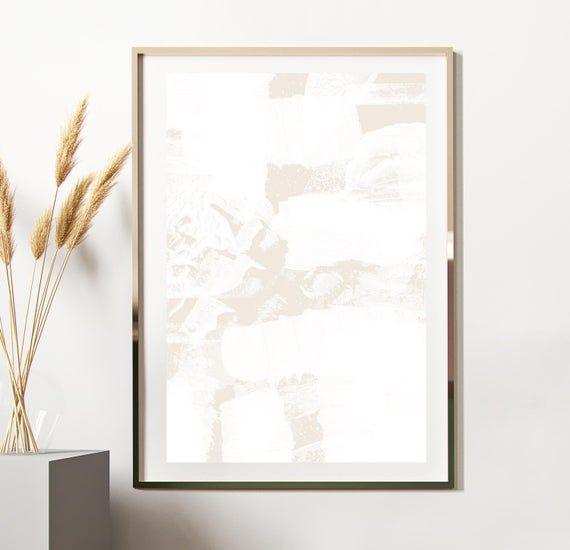 Beige Wall Art Abstract Art Print Neutral Art Print Cream Etsy In 2021 Neutral Art Beige Walls Aesthetic Room Decor