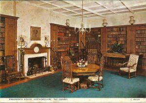 Knebworth House, Herfordshire: de bibliotheek