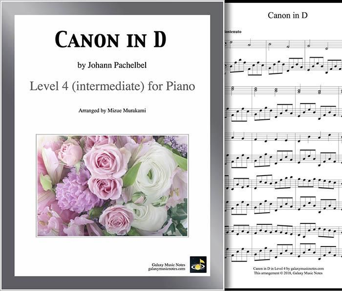 Canon In D By Pachelbel Level 4 Piano Sheet Music Piano