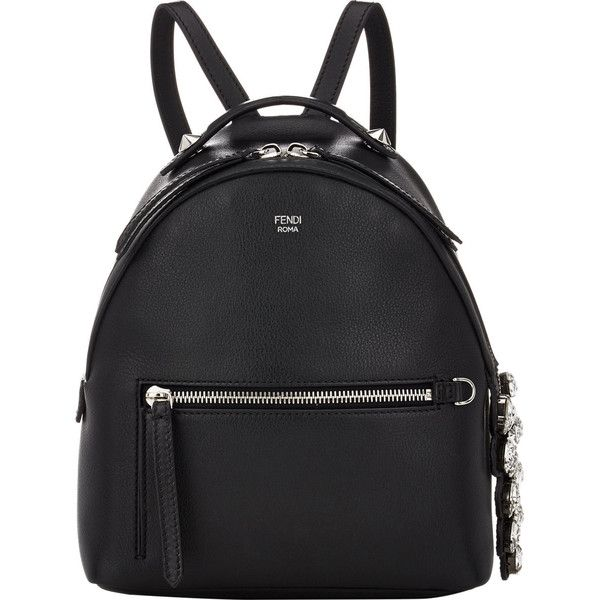 Fendi Mini-Backpack ($2,450) ❤ liked on Polyvore featuring bags, backpacks, fendi, colorless, mini backpack, clear handle bags, studded backpack, handle bag and mini bag