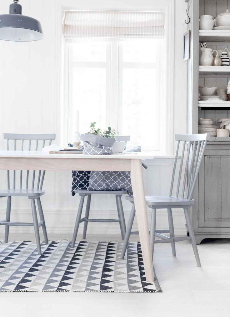nordic dining area in soft tones