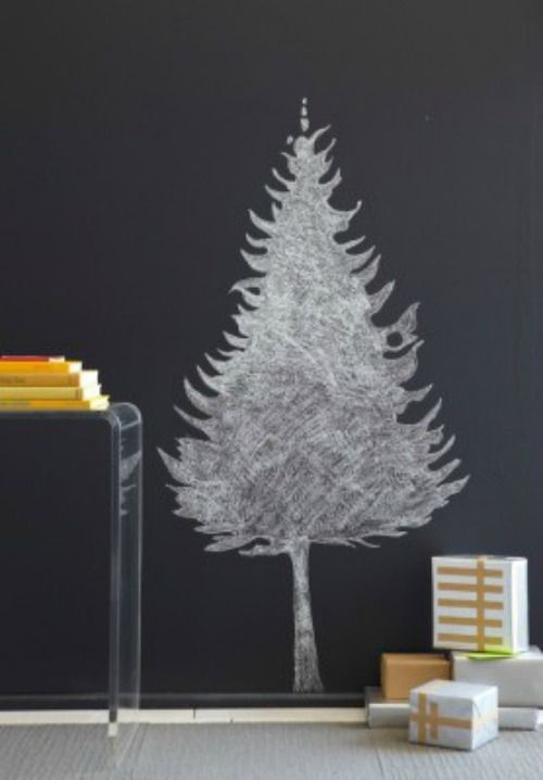 Pine Cones and Acorns: Christmas Chalkboard Art Ideas ...