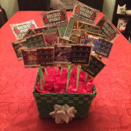 DIY Lottery Ticket Gift Basket & Mystery Gift Box