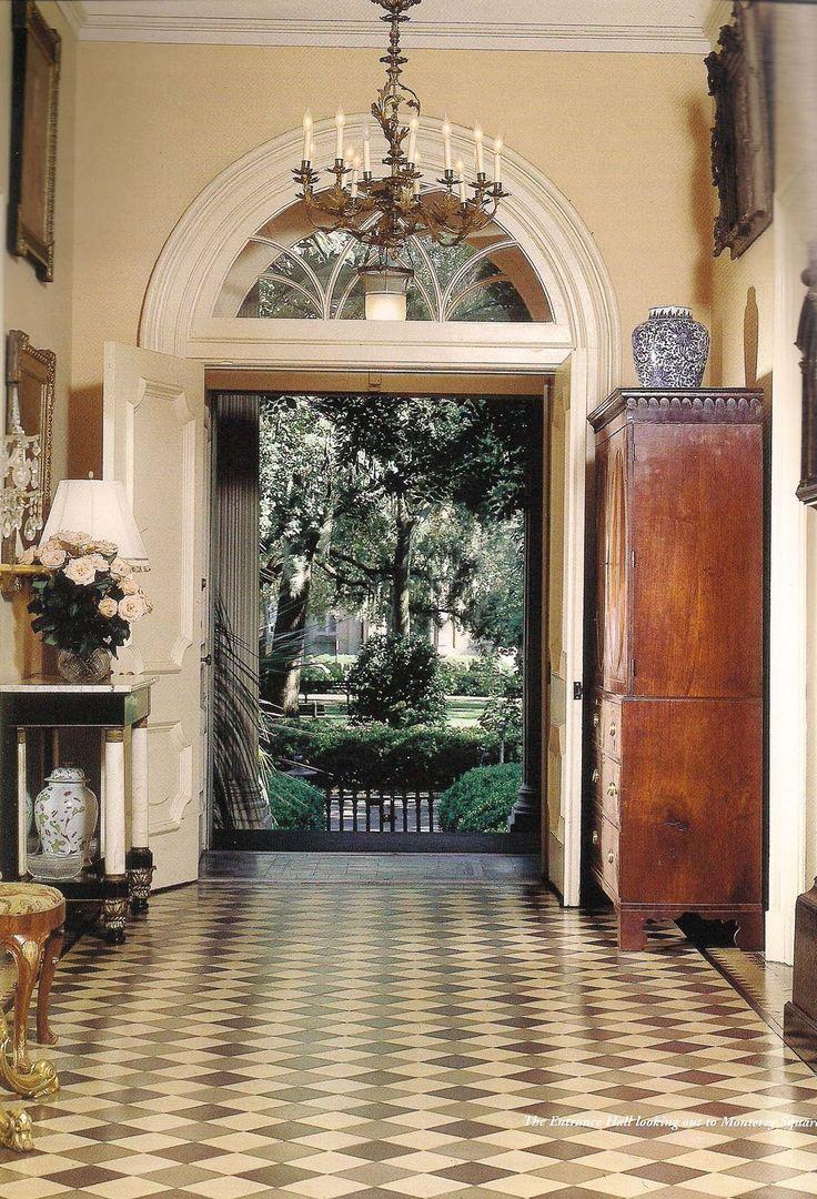 Foyer Of Mercer House Savannah Ga