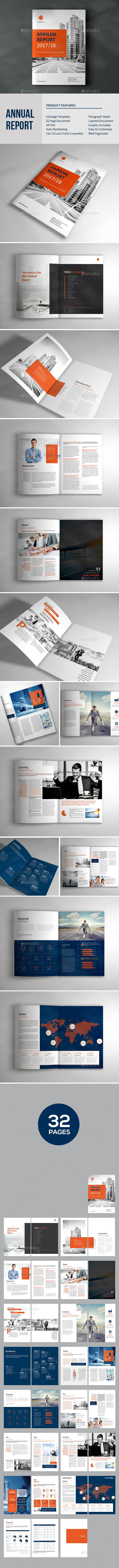 Annual Report Template Brochure — InDesign INDD #trendy #company brochure • Available here ➝ https://graphicriver.net/item/annual-report-template-brochure/21006731?ref=pxcr