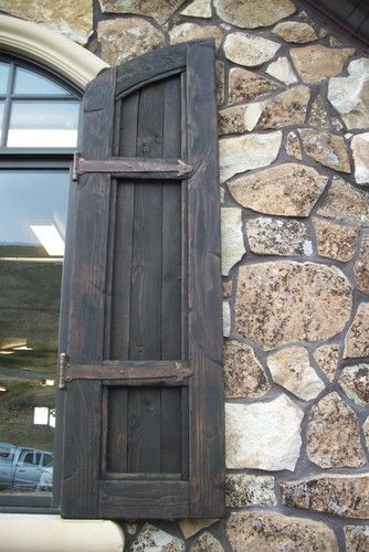 da Vinci Details Shutters  outdoor products - LOVE THIS IDEA -- Install in master bathroom on either side of window. Vintage