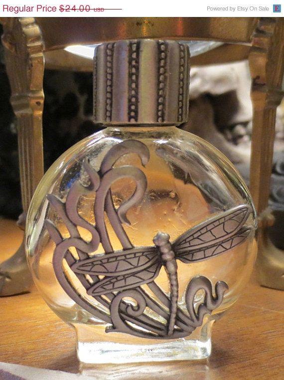 Glass Dragonfly Perfume Bottle