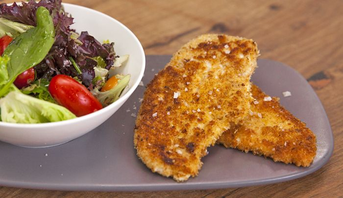 Coconut and Ginger Crumbed Chicken - Good Chef Bad Chef