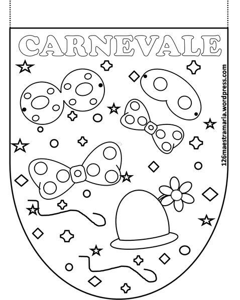 Disegni per la festa di Carnevale per i bambini più piccoli e … STAMPA IL PDF DEL LIBRICINO vivaci bandierine da stampare peruna festain allegria.          Stampa        …