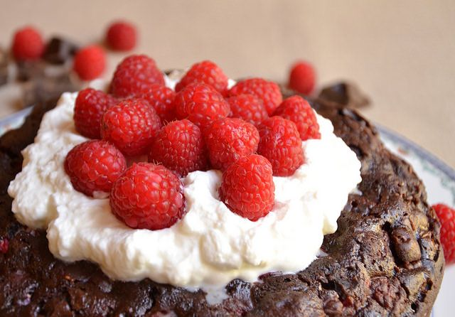 Torta Cioccolato e Lamponi Bimby