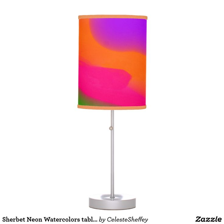 Sherbet Neon Watercolors table lamp